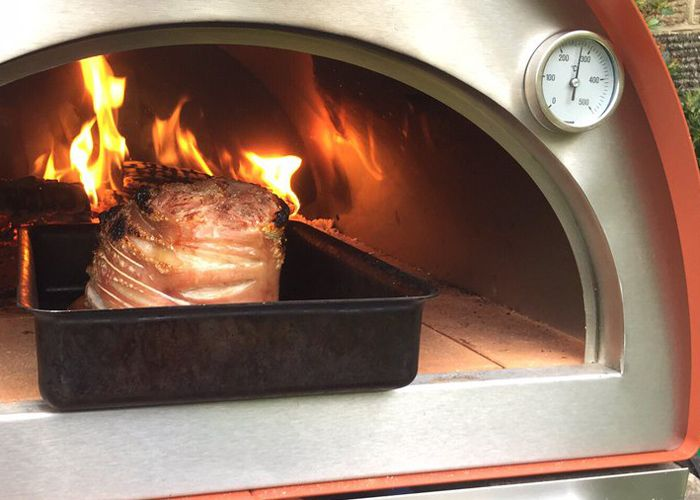 Contemporary Stainless Steel Wood Fired Oven
